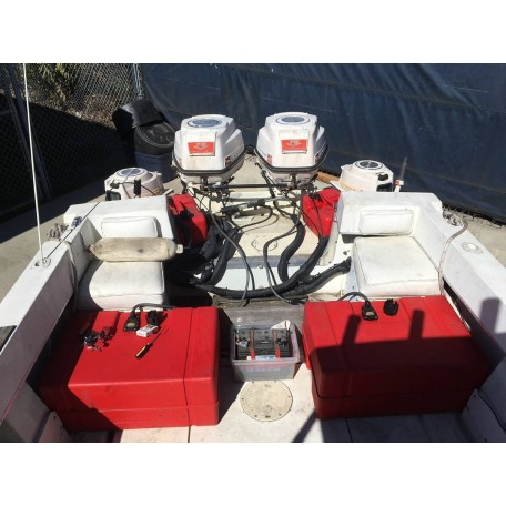 1960 75HP Johnson Super Seahorse Engines & 5 5HP Kickers